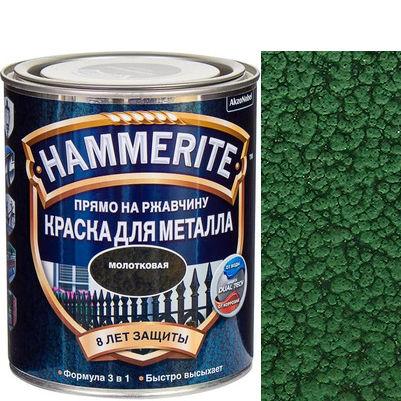 Фото 18 - Краска Хаммерайт  Темно-Зеленая, молотковая для металла 3 в 1  [2.2л] Hammerite.