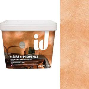 """Фото 12 - Штукатурка АйДи Деко """"Le Mas de Provence Оранж"""" декоративная с эффектом """"Прованс""""  [15кг] ID Deco."""