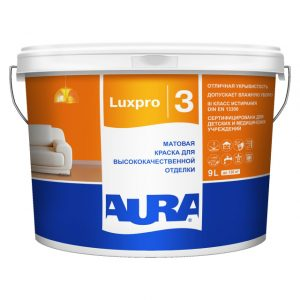 "Фото 4 - Краска ""ЛюксПро 3"" (Aura LuxPRO 3) латексная матовая интерьерная  [0,9л]   ""Аура/Aura""."