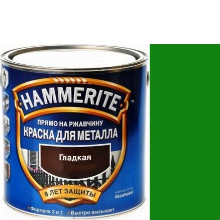 Фото 16 - Краска Хаммерайт Зеленая, RAL 6029 гладкая глянцевая для металла 3 в 1 [2.2л] Hammerite.
