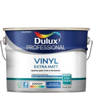 Фото 13 - Краска Дулюкс Винил Экстра Мат (Vinyl Extra Matt) акриловая глубокоматовая интерьерная база BW [5л] Dulux.