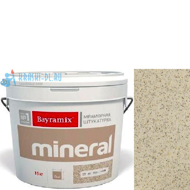 "Фото 10 - Мраморная штукатурка Байрамикс ""Минерал 023"" (Mineral) мозаичная фракция 0,5-0,7 мм [15кг] Bayramix."