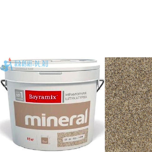 "Фото 16 - Мраморная штукатурка Байрамикс ""Минерал 034"" (Mineral) мозаичная фракция 0,5-0,7 мм [15кг] Bayramix."