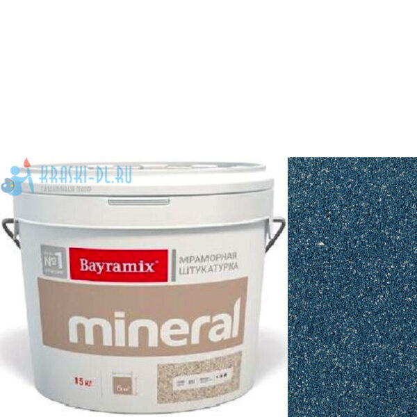 "Фото 1 - Мраморная штукатурка Байрамикс ""Минерал 304"" (Mineral) мозаичная фракция 0,7-1,2 мм  [15кг]  Bayramix."