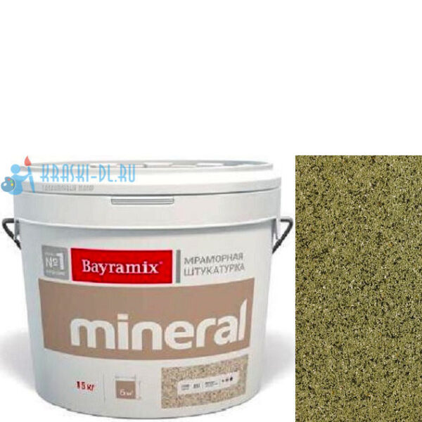 "Фото 1 - Мраморная штукатурка Байрамикс ""Минерал 310"" (Mineral) мозаичная фракция 0,7-1,2 мм  [15кг]  Bayramix."