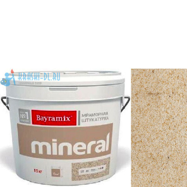 "Фото 1 - Мраморная штукатурка Байрамикс ""Минерал 413"" (Mineral) мозаичная фракция 0,7-1,2 мм  [15кг]  Bayramix."