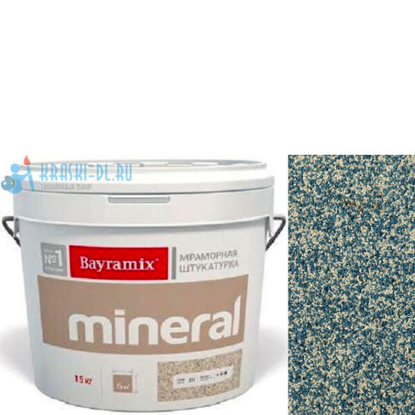 "Фото 1 - Мраморная штукатурка Байрамикс ""Минерал 806"" (Mineral) мозаичная фракция 1,2-1,5 мм  [15кг]  Bayramix."