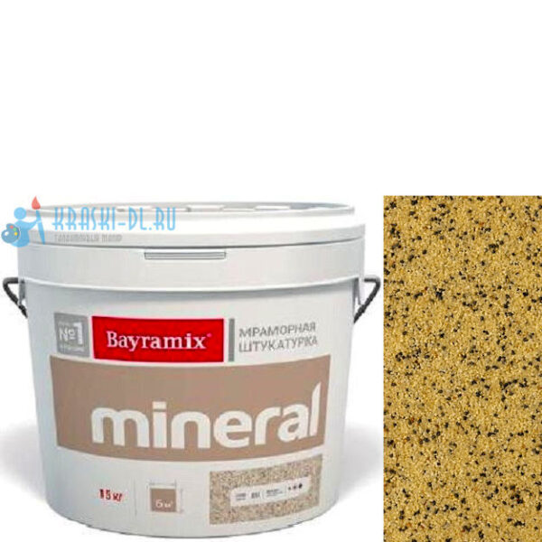 "Фото 1 - Мраморная штукатурка Байрамикс ""Минерал 904"" (Mineral) мозаичная фракция 1,2-1,5 мм  [15кг]  Bayramix."