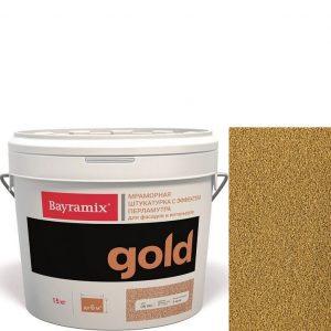 "Фото 2 - Мраморная штукатурка Байрамикс ""Минерал Голд G 078"" (Mineral Gold) мозаичная, фракция 1,2-1,5 мм  [15кг]  Bayramix."