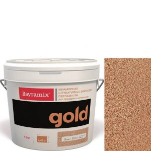 "Фото 4 - Мраморная штукатурка Байрамикс ""Минерал Голд G 082"" (Mineral Gold) мозаичная, фракция 1,2-1,5 мм  [15кг]  Bayramix."