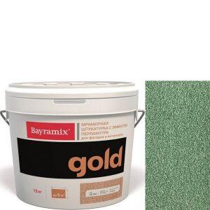 "Фото 9 - Мраморная штукатурка Байрамикс ""Минерал Голд G 128"" (Mineral Gold) мозаичная, фракция 1,2-1,5 мм  [15кг]  Bayramix."