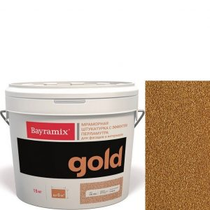 "Фото 10 - Мраморная штукатурка Байрамикс ""Минерал Голд G 136"" (Mineral Gold) мозаичная, фракция 1,2-1,5 мм  [15кг]  Bayramix."