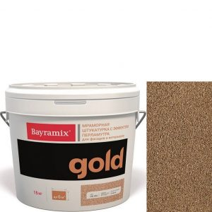 "Фото 11 - Мраморная штукатурка Байрамикс ""Минерал Голд G 144"" (Mineral Gold) мозаичная, фракция 1,2-1,5 мм  [15кг]  Bayramix."