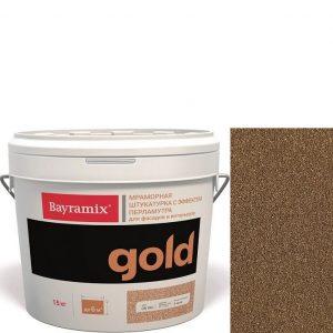 "Фото 13 - Мраморная штукатурка Байрамикс ""Минерал Голд GN 019"" (Mineral Gold) мозаичная, фракция 0,7-1,2 мм  [15кг]  Bayramix."