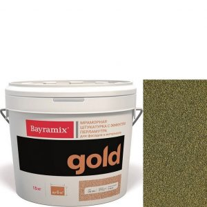 "Фото 16 - Мраморная штукатурка Байрамикс ""Минерал Голд GN 031"" (Mineral Gold) мозаичная, фракция 0,7-1,2 мм  [15кг]  Bayramix."