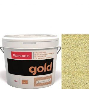 "Фото 18 - Мраморная штукатурка Байрамикс ""Минерал Голд GN 049"" (Mineral Gold) мозаичная, фракция 0,7-1,2 мм  [15кг]  Bayramix."