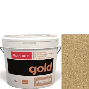"Фото 20 - Мраморная штукатурка Байрамикс ""Минерал Голд GN 061"" (Mineral Gold) мозаичная, фракция 0,7-1,2 мм  [15кг]  Bayramix."