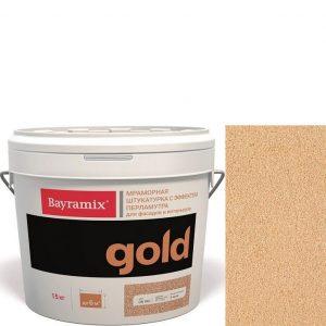 "Фото 23 - Мраморная штукатурка Байрамикс ""Минерал Голд GN 550"" (Mineral Gold) мозаичная, фракция 0,7-1,2 мм  [15кг]  Bayramix."
