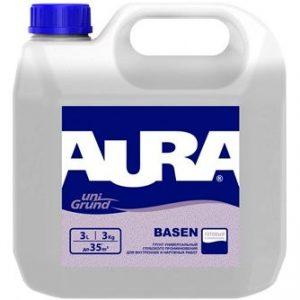 """Фото 1 - Грунт """"Аура Базен"""" (Aura Unigrund Basen) акриловый пропиточный готовый к применению  [10л]  [Бесцветный]"""" """"Аура/Aura""""."""