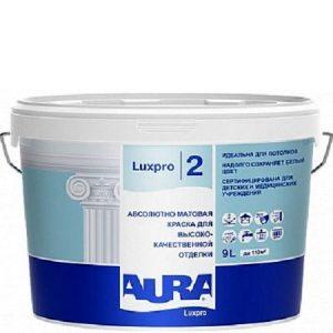 "Фото 3 - Краска ""ЛюксПро 2"" (LuxPRO 2) латексная матовая для потолков  [9л]  [База А]"" ""Аура/Aura""."