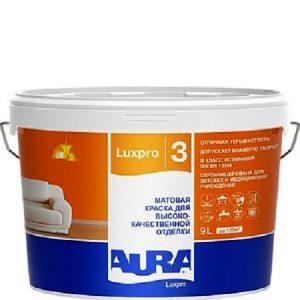 "Фото 8 - Краска ""ЛюксПро 3"" (Aura LuxPRO 3) латексная матовая интерьерная  [9л]  [База TR]"" ""Аура/Aura""."