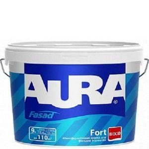 "Фото 6 - Краска Аура ""Фасад Форт"" (Aura Fasad Fort) латексная матовая для фасада и цоколей  [9л]  [База TR]"" ""Аура/Aura""."