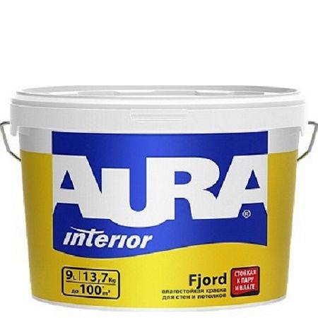 Фото 1 - Краска Aura Interior Fjord, влагостойкая,матовая, интерьерная, 15л, База А, Аура.
