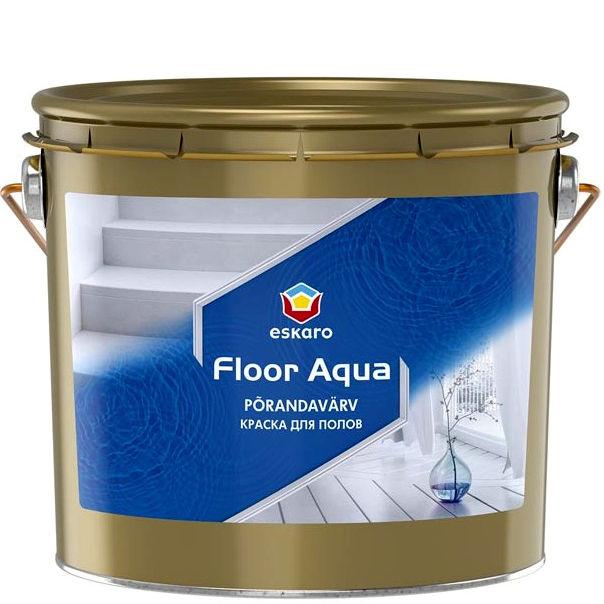 """Фото 1 - Краска Ескаро """"Флур Аква"""" (Floor Aqua) глянцевая для деревянных и бетонных полов  [2.7л] цвет [База TR] Eskaro."""