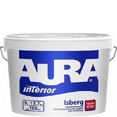 Фото 6 - Краска Aura Interior Isberg, латексная, глубокоматовая, для потолка, 15л, База А, Аура.