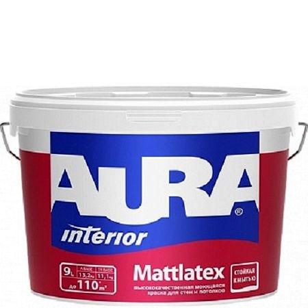 Фото 8 - Краска Aura Interior Mattlatex, моющаяся, матовая, для стен и потолков, 15л, База А, Аура.