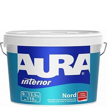 Фото 1 - Краска Aura Interior Nord, латексная, матовая, для стен и потолков, 15л, База А, Аура.