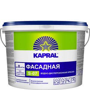 """Фото 8 - Краска Капрал """"S-07"""" фасадная воднодисперсионная матовая  [14кг] Kapral."""
