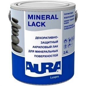 """Фото 4 - Лак """"Аура Минерал лак"""" (Mineral Lack) акриловый полуматовый для минеральных поверхностей  [2,4л]   """"Аура/Aura""""."""