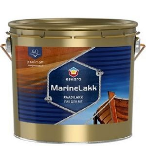 """Фото 1 - Лак Ескаро яхтный """"Марина Лак Ескаро 40"""" (Marine lakk 40) алкидно-уретановый полуматовый  [0.95л] цвет [Бесцветный] Eskaro."""