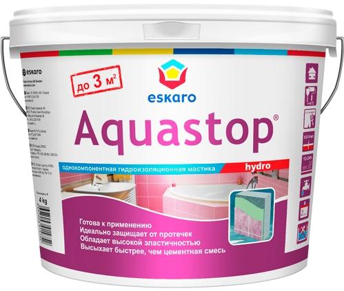 "Фото 10 - Мастика ""Аквастоп Гидро"" (Aquastop Hydro) гидроизоляционная  [4 кг] Эскаро/ Eskaro."