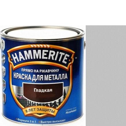 Фото 24 - Краска Хаммерайт Светло-Серая, RAL 7042 гладкая глянцевая для металла 3 в 1 [2.2л] Hammerite.
