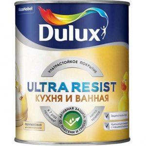 Фото 16 - Краска Дулюкс Ultra Resis Кухня и Ванная, акриловая моющаяся матовая интерьерная база BW [5л] Dulux.