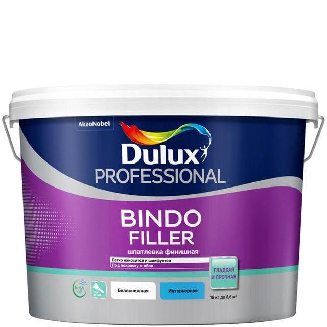 Фото 2 - Шпатлевка Дулюкс Bindo Filler, финишная под покраску и обои [15кг] Dulux.