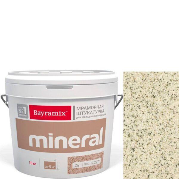 "Фото 1 - Мраморная штукатурка Байрамикс ""Минерал 852"" (Mineral цвет Saftas) мозаичная, фракция 1,2-1,5 мм  [15кг]  Bayramix."