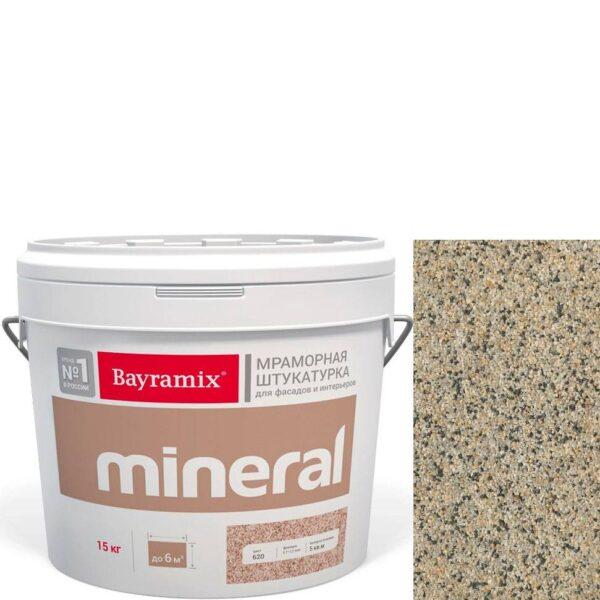 "Фото 1 - Мраморная штукатурка Байрамикс ""Минерал 853"" (Mineral цвет Saftas) мозаичная, фракция 1,2-1,5 мм  [15кг]  Bayramix."
