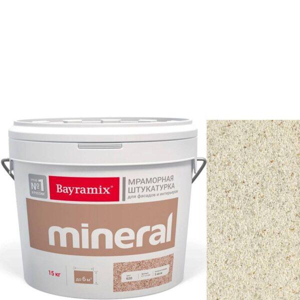 "Фото 1 - Мраморная штукатурка Байрамикс ""Минерал 854"" (Mineral цвет Saftas) мозаичная, фракция 1,2-1,5 мм  [15кг]  Bayramix."