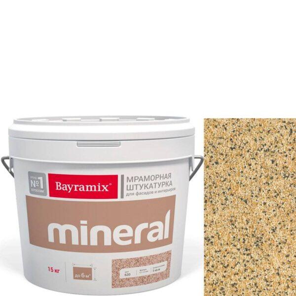 "Фото 1 - Мраморная штукатурка Байрамикс ""Минерал 858"" (Mineral цвет Saftas) мозаичная, фракция 1,2-1,5 мм  [15кг]  Bayramix."