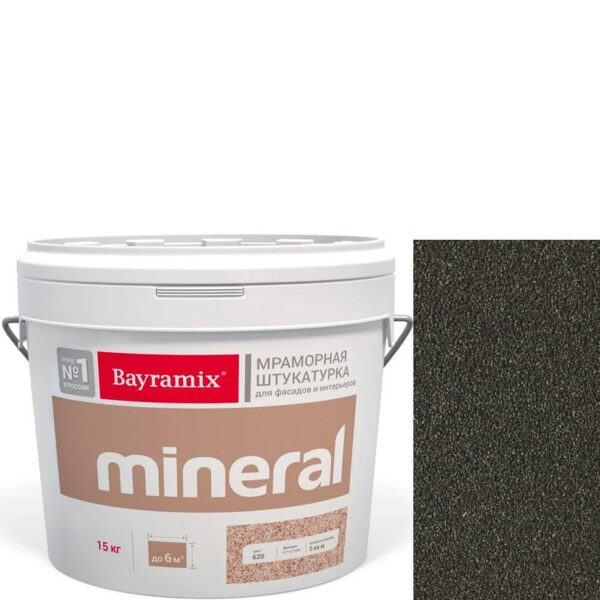 "Фото 1 - Мраморная штукатурка Байрамикс ""Минерал 861"" (Mineral цвет Saftas) мозаичная, фракция 1,2-1,5 мм  [15кг]  Bayramix."