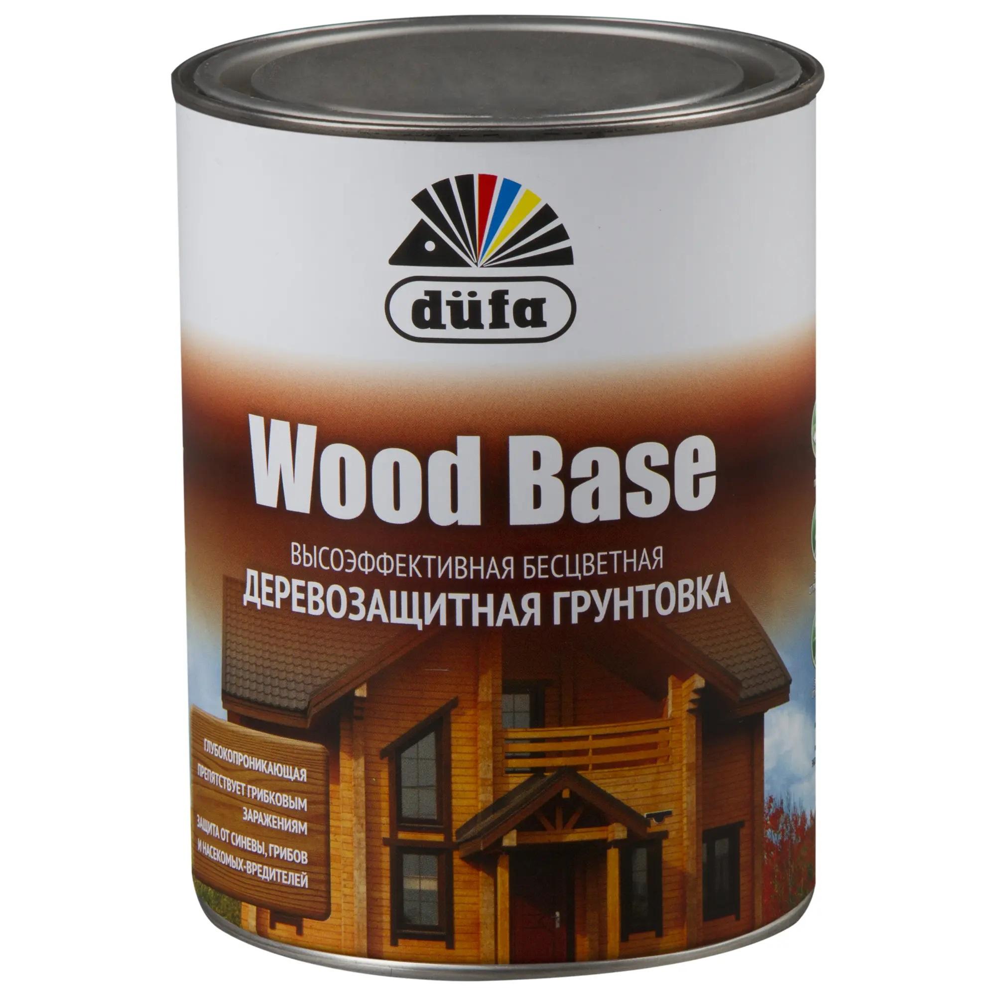"""Фото 2 - Грунт Дюфа """"Вуд База"""" (Wood Base) Бесцветная с биоцидом для древесины [1л] Dufa."""