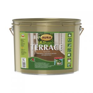 """Фото 4 - Масло """"Террас"""" (Terrace) бесцветное для наружных деревянных поверхностей  [0,9л]  [Бесцветный]"""" """"Аура/Aura""""."""