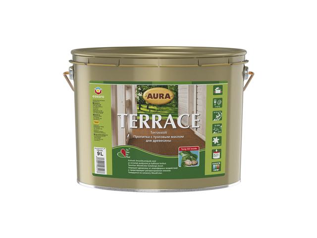 Фото 4 - Масло Aura Terrace, для наружных деревянных поверхностей 0.9л, Бесцветный, Аура.