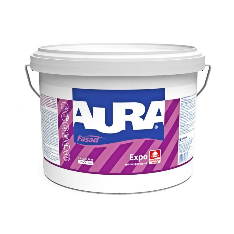 Фото 7 - Краска фасадная Aura Fasad Expo, База A, 21,6 кг.