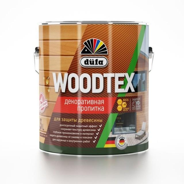 """Фото 1 - Пропитка Дюфа """"Вуд Текс"""" (Woodtex) Бесцветная, алкидная полуматовая для защиты древесины [0.9л] Dufa."""