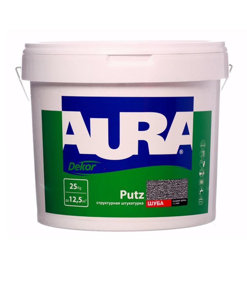 Фото 1 - Штукатурка Aura Putz Decor, декоративная, структурная, универсальная, короед 3.0 мм, 25кг, Аура.