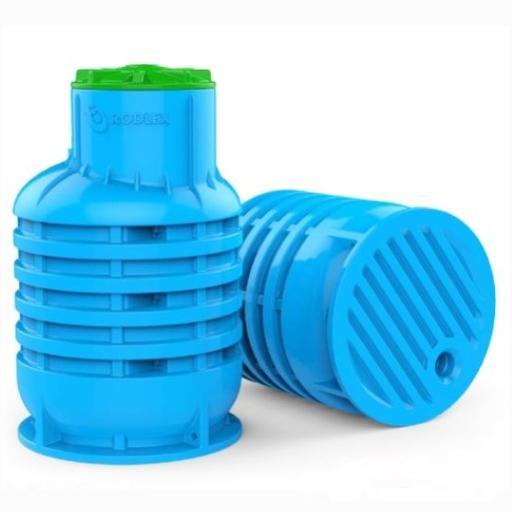 """Фото 1 - Кессон """"Rodlex"""" KS 2.0, для скважин, пластиковый, с крышкой, 1300/2000 """"Родлекс""""."""